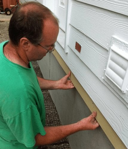 DURASKIRT™ Concrete Skirting for Manufactured Homes Hidden-Vent Install