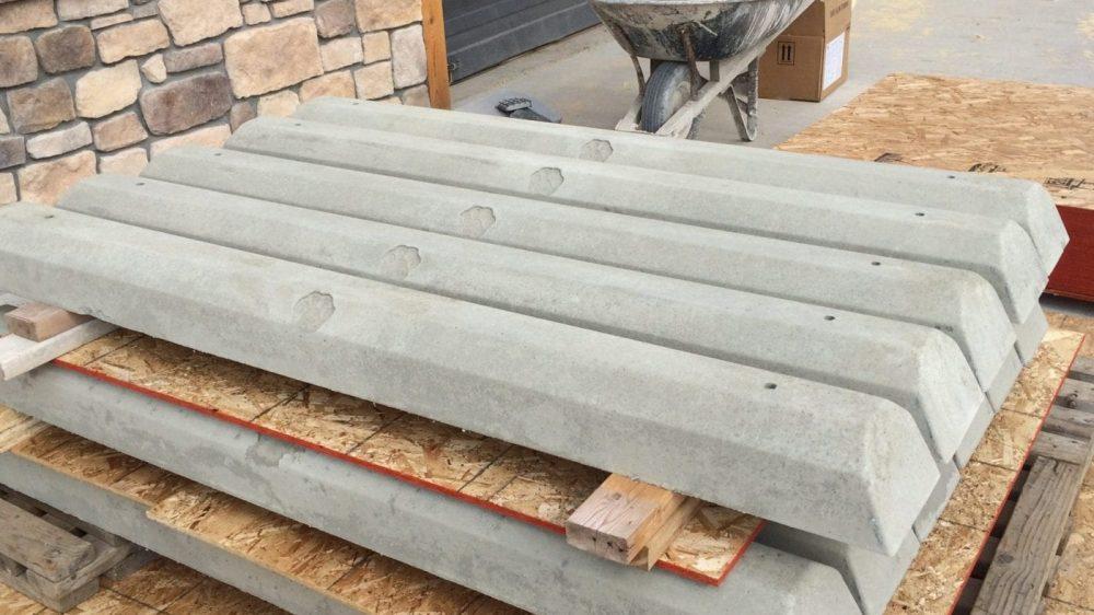 Concrete Wheel Stops – Doggy Print