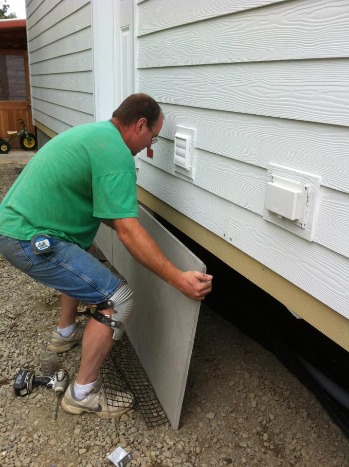 DIY - Installing mobile home skirting kits