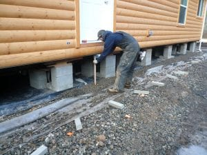 soils preparation for Mobile Home Skirting Installation