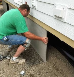 mobile home skirting options