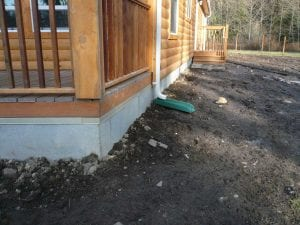 log cabin skirting