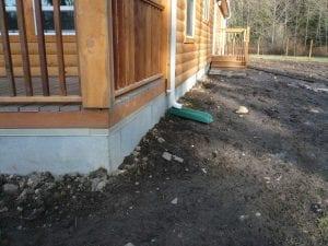 log cabin skirting