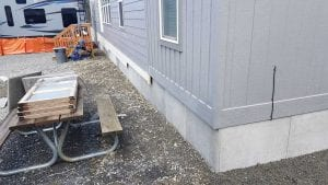 alternatives to mobile home skirting (Idea for around the bottom of a trailer)