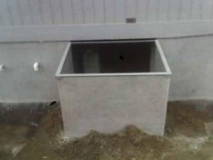 cement board well