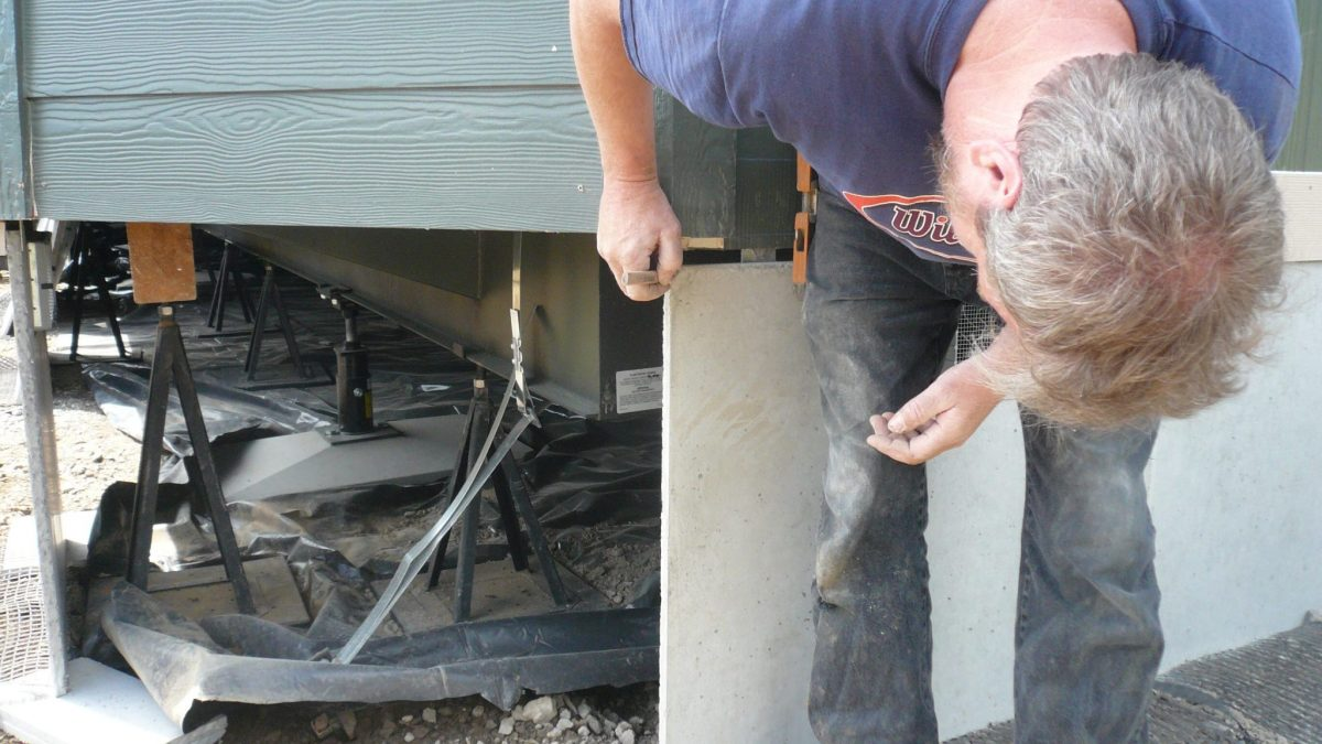 What is considered a permanent foundation for a manufactured home
